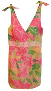 Lilly Pulitzer short dress Multi Summer V-neck Empire Waist on Tradesy