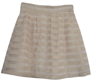 Ann Taylor Work Polyester Dryclean Only Skirt Cream