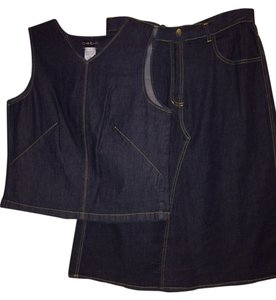 Bebe Denim Skirt + Top Set