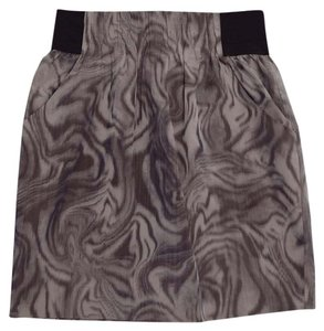 Aryn K Chic Sophisticated Comfortable Office Wear Mini Skirt Purple & Black