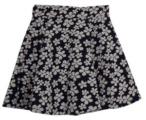 H&M Comfortable Mini Skirt Navy Blue & White