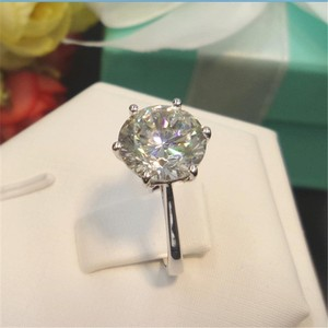 4ct Round Brilliant Cut Nscd Simulated Diamond Engagement Wedding Ring
