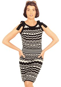 M Missoni short dress Black & White Zigzag Knit on Tradesy