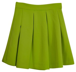 Stretchy Breathable Mini Skirt Lime Green