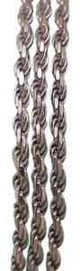 Estate 14kt White Gold Chain Rope Necklace,9.8gr, Italy