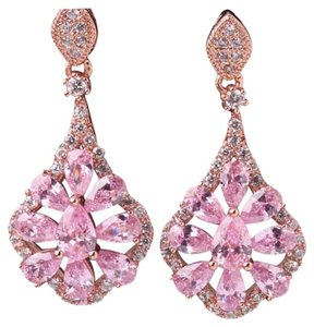 Other Restocked Stunning Pink Topaz 18k Rose Gold Filled Earrings