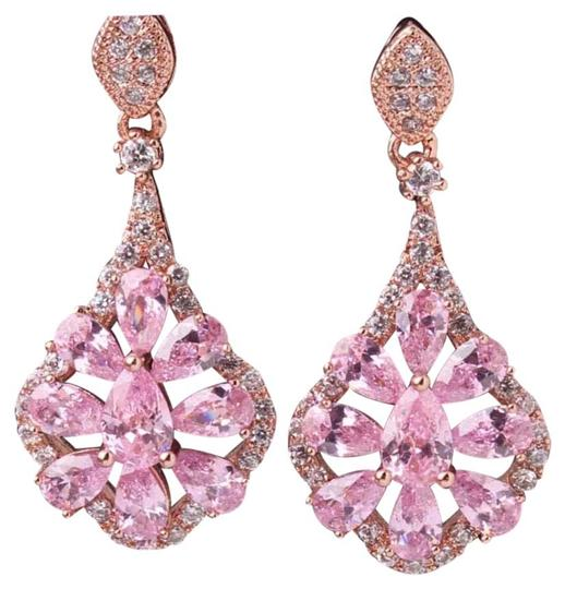 Preload https://img-static.tradesy.com/item/15990424/pink-and-rose-gold-restocked-stunning-topaz-18k-filled-earrings-0-1-540-540.jpg