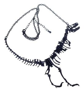 Other BRAND NEW Black Bib Style Dinosaur Necklace