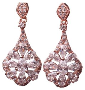 Other RESTOCK White Topaz 18k Rose Gold Filled Earrings