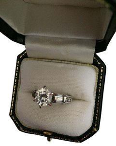 Silver CZ engagement ring