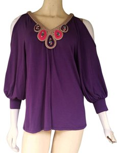 Va Va Voom Beaded Cold Top Purple