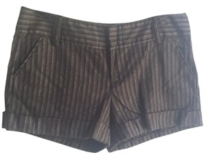 Alice + Olivia Dress Shorts Brown, Black, Grey striped