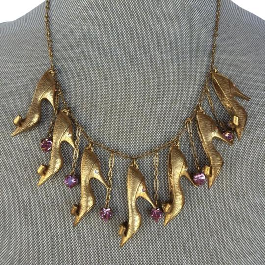 Preload https://item1.tradesy.com/images/butler-and-wilson-gold-pink-shoe-necklace-15991045-0-1.jpg?width=440&height=440
