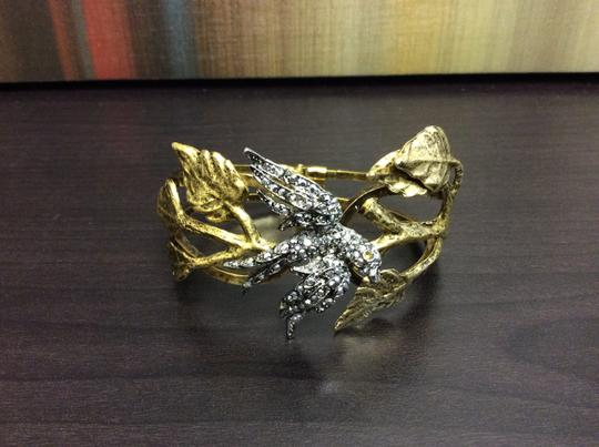 Other Silver Bird with Topaz Eyes Satin Hamilton Gold Vine Bracelet