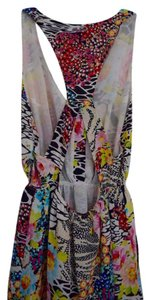 Multi-color with Zebra striping Maxi Dress by Yumi Kim Tropical Print Silk Dry Clean Only Maxi Long