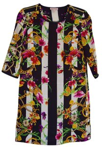 Juicy Couture Silk Juicy Going Cocktail Fun Pattern Dress
