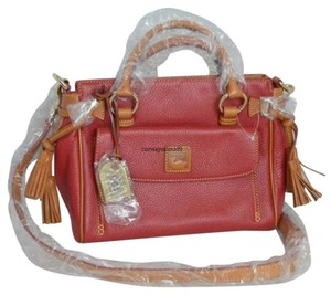 Dooney & Bourke Satchel in Crimson Red