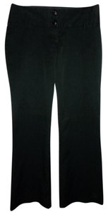 Maurices Dressy Work Double Band Waist Zipper Classic Trouser Pants black