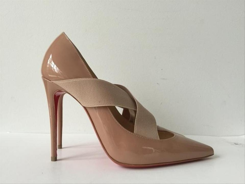 louboutin prices - Christian Louboutin Sharpstagram 100 Patent Leather Nude Pumps ...