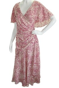 Nancy Johnson Silk Rayon Floral Dress