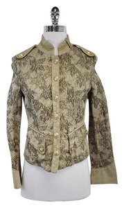 Pinko Army Green Gold Floral Jacket