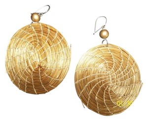 Other Pierced Earring, Bamboo Design, Round