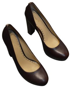 Coach Leather Elliott Consignment Brown Pumps