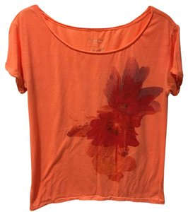 American Eagle Outfitters Summer Fun T Shirt Orange