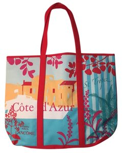 LANCOME Designed By atelier Ize Red Beach Bag