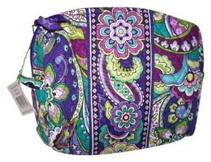 Vera Bradley Vera Bradley Heather purple paisley Large Cosmetic NWT