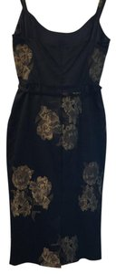 St. John short dress Black and Gold on Tradesy