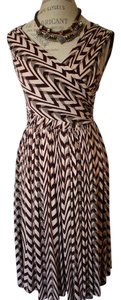 Anthropologie short dress Clay pink and brown chocolate on Tradesy