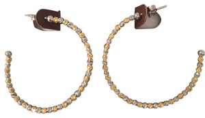 Argento Vivo Two Tones Hoop Earring