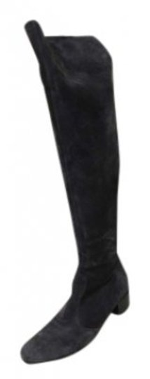 Barneys New York Back Zip Over The Knee Co-op Dark Gray Boots