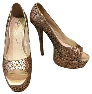 Alice + Olivia Gold Platforms