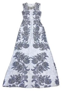 Maxi Dress by BCBGMAXAZRIA Chloey Blue Print Maxi