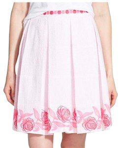 Vineyard Vines Seersucker Derby Pleated Skirt Pink