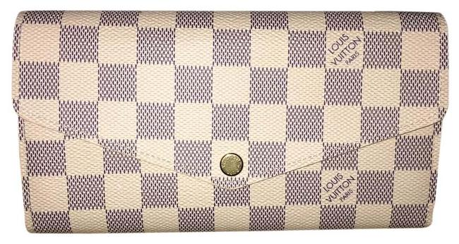 Item - Josephine W/ Code Luxe75 - New 2016 Damier Azur Sarah Nm Wallet Portefeuille Pf New Model Nm3 Wallet Organizer Like Blue and Off White Canvas Clutch