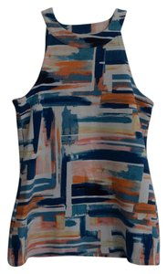 Anthropologie Cutout Back Top Multi-Colored