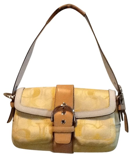 Coach Satchel in Light Yellow