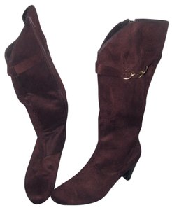 Knee Suede Dress brown Boots