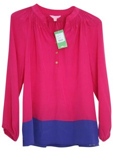 Lilly Pulitzer Top hot pink and blue
