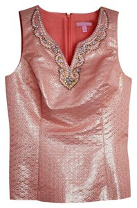 Lilly Pulitzer Beaded Top pink