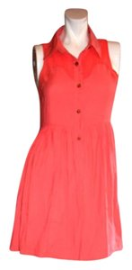 Finders Keepers short dress Bright coral on Tradesy