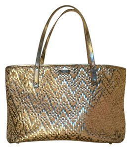 Kate Spade Summer Straw Tote in Gold