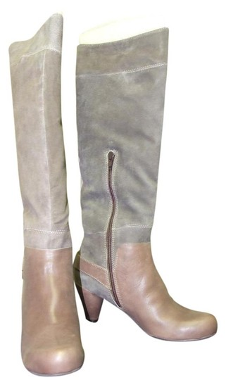 Sachelle Leather Boho Taupe Vintage Brown Boots