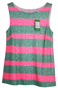 Lilly Pulitzer Sequin Top hot pink and green