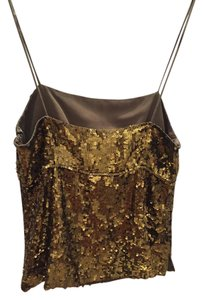 J.Crew Sequin Occasion Top metallic gold green