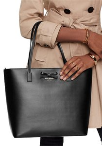 Kate Spade Key Fob Too Leather Pieces Tote in BLACK