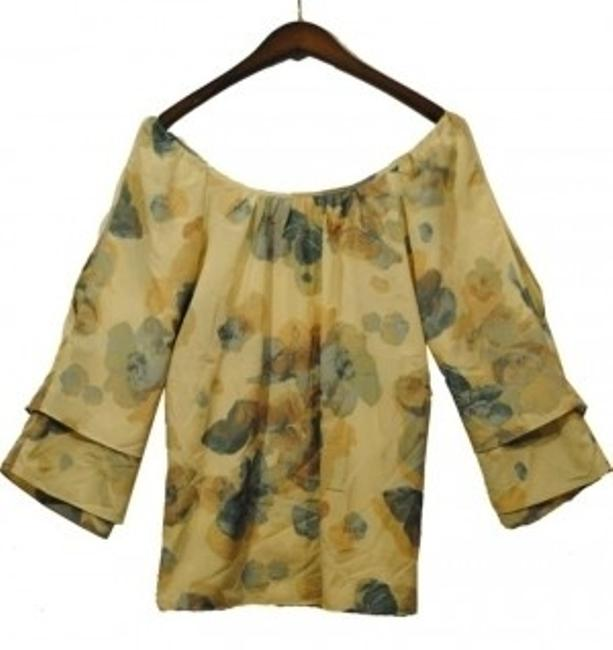 Charlotte Russe Abstract Floral Top Multi Colored